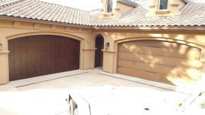 Carriage House Garage Door Installation before and after