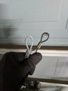 garage door cable size