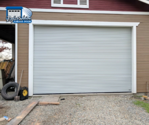 installed commercial roll up door