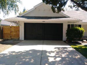 old sliding garage door